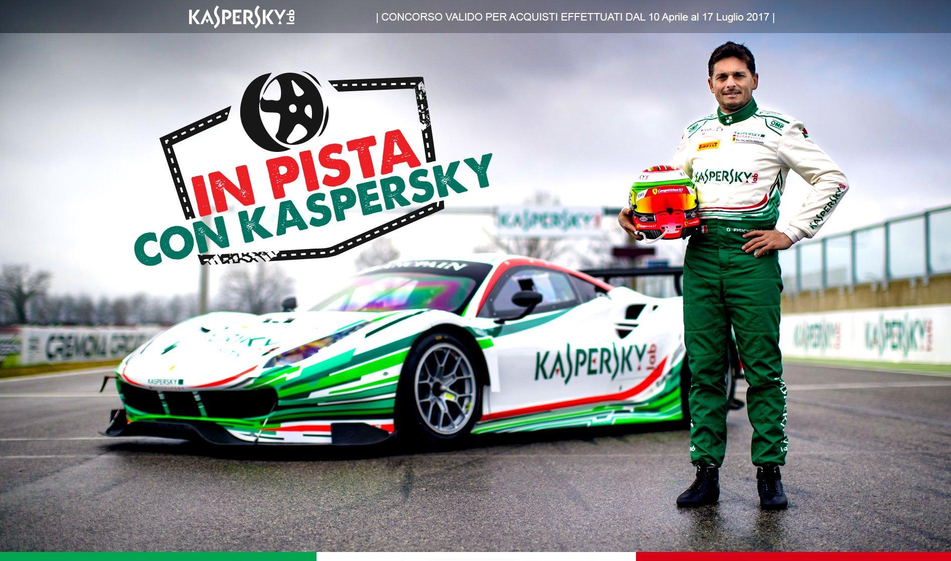 Con il concorso a premi In Pista con Kaspersky puoi vincere un giro in pista con un campione