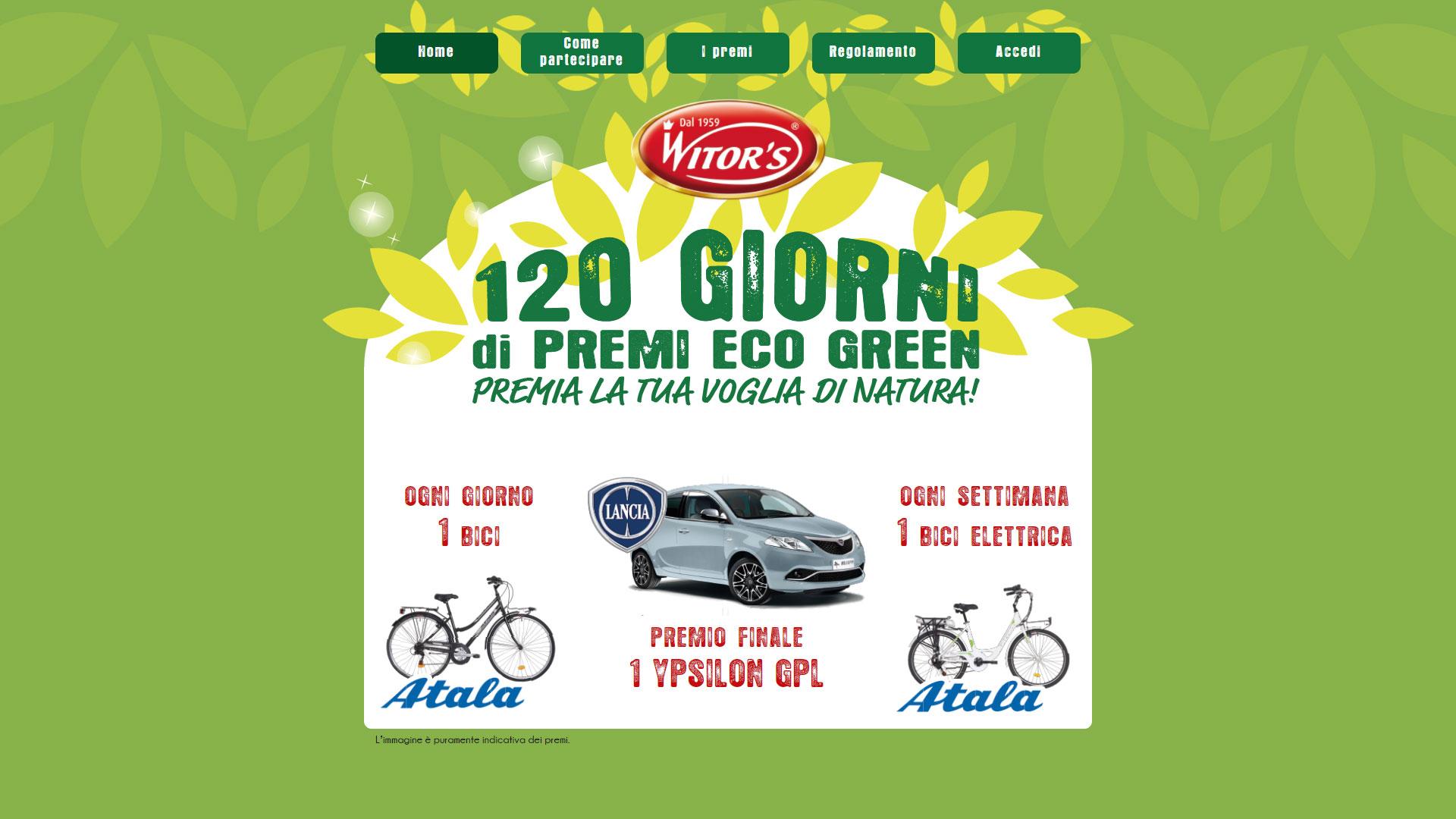 concorso a premi Witor's vinci auto in estrazione finale e biciclette in instant win