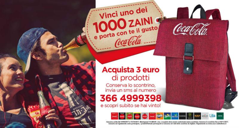 miglior sito web d8fb3 b1037 concorso a premi CocaCola instantwin vinci uno zaino - Clipper